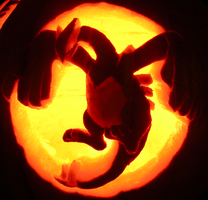 Lugia on a Pumpkin