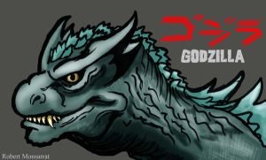 Godzilla head design by Crocazill