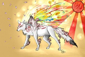 Okami Amaterasu - Light Majesty by HedwigeKy