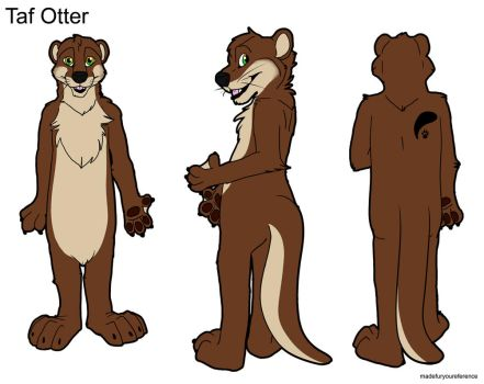 Taf Otter Ref Sheet by references@madefuryou.com by Taffybear