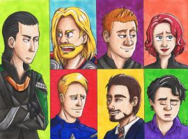 The Avengers by Freaky-chan