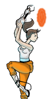 Chell- Portal 2 by Cosmic-Crow