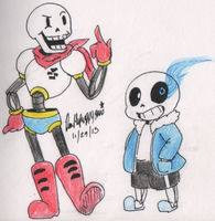 Undertale:Sans and Papyrus by DeathPuppy9000