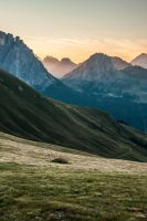 piz boe + marmolada at sunset by stachelpferdchen