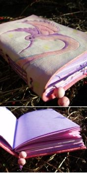 Leather journal 'Hummingbird' by Elescave