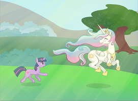 Celestia's Day Off by v-invidia