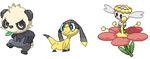 Pokemon X and Y sprites 2 by LillyTheFox264