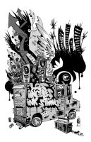 Los Angeles Ink Stains Print by JimMahfood-FoodOne