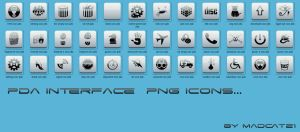 Pda dock icons by coolcat21