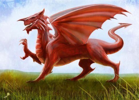 Welsh Flag - The Red Dragon by AndyFairhurst