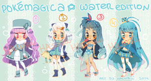 PokeMagica*WATER Edition Adoptables (closed) by Hacuubii