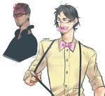 Darkiplier and Wilford by PotatoesLove