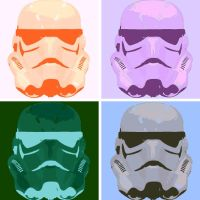 Storm Trooper helmet pop art by DevintheCool