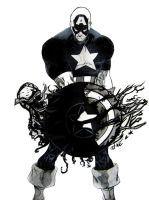 Captain America black by BronzeAthlete