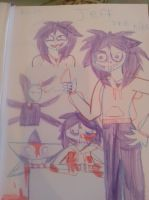 jeff the killer sketches by Nightmaremoon108
