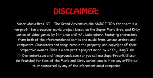 DISCLAIMER in SMBGT by KingAsylus91