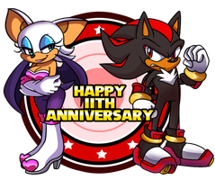 Happy Birthday, Shadow and Rouge! by SolaireMomo