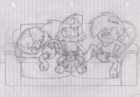 Sketch: Sleeping on the Couch by RHODOL1TE