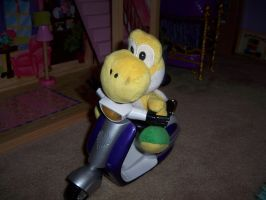 yoshi plush scooter ride by agentbananayum