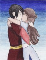 Zuko and Katara - First Kiss by ZukoxKataraFan