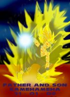 Father and Son Kamehameha by gamefreak2008