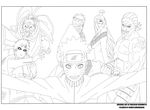 Naruto 457 Cover Lineart by DarkFlameDragon