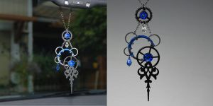 Blue Steampunk Sun Catcher v2- SOLD by YouniquelyChic