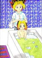 Bathing for two by Inunaide