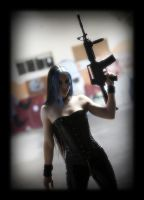 Chick with Gun ... III by Osnafotos