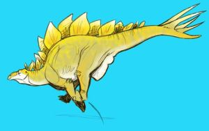 Happy Stegosaurus by goosezilla
