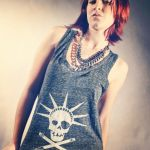 Pirates of Brooklyn White / Gray Tank top by piratesofbrooklyn