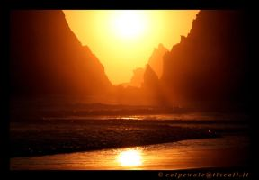 Sunset at playa de los muertos by colpewole