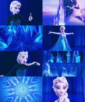 [Picspam] Let it go - Frozen by KrystalLam