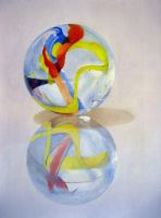 Marbles in Oil I by Doo-Dah