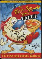 My Ren and Stimpy DVD signed by Camp by CelmationPrince