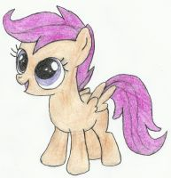 Scootaloo drawn by seanway715