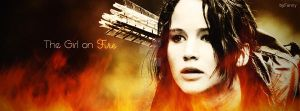 The Girl on Fire :) Facebook Cover by ShadowCath17