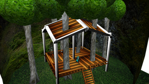 MMD Trees through deck Stage by mbarnesMMD