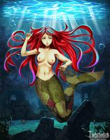 girl in a mermaid tail by telly0050