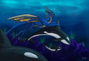 Seli and the Orcas by Aarok