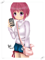 Request : girl anime with her phone by piepienyo
