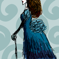Lady In Blue by Tigrantia