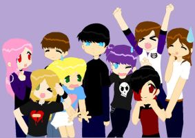 A group of friends x3 by LilGothicPanda