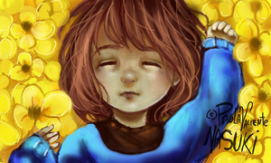 Frisk - Nintendo 3DS drawing by Nasuki100