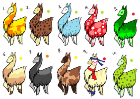 Llama Adoptables by AshXRin-Fan