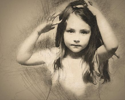 Tiny Bridesmaid In Pencil by indytim
