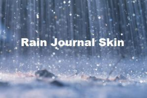 Rain Journal Skin by banishedcatgirl233