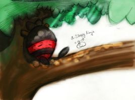 A Sleepy Ninja by lafhaha
