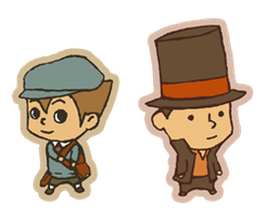 qt Professor Layton and Luke by Hazuza