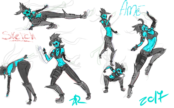 Ame Pose Sketch Gesture by caty-floc
